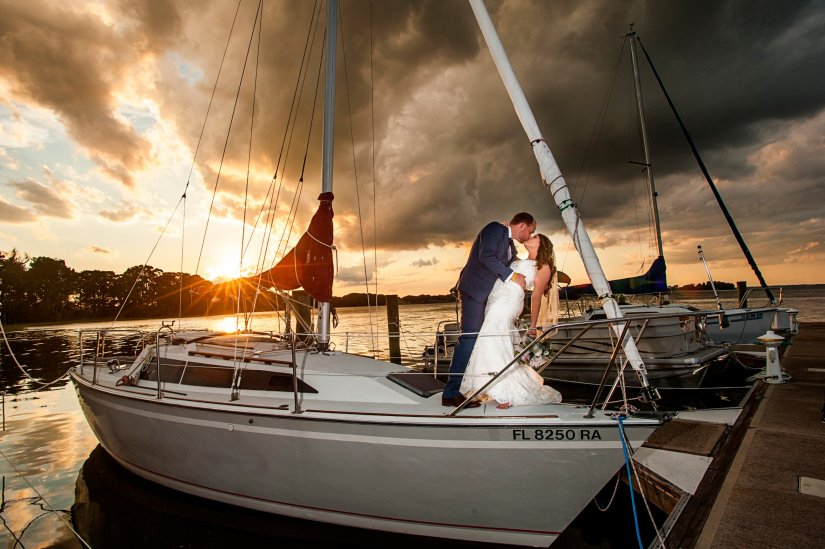 Ocean-Yacht wedding photography Oahu