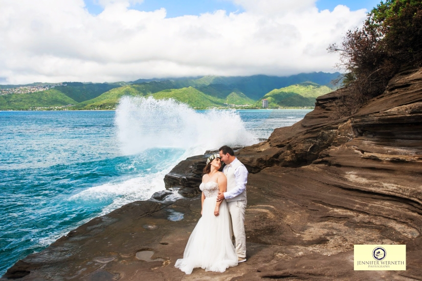 Wedding Photography in Oahu, Hawaii, China Walls, vow renewal (8)