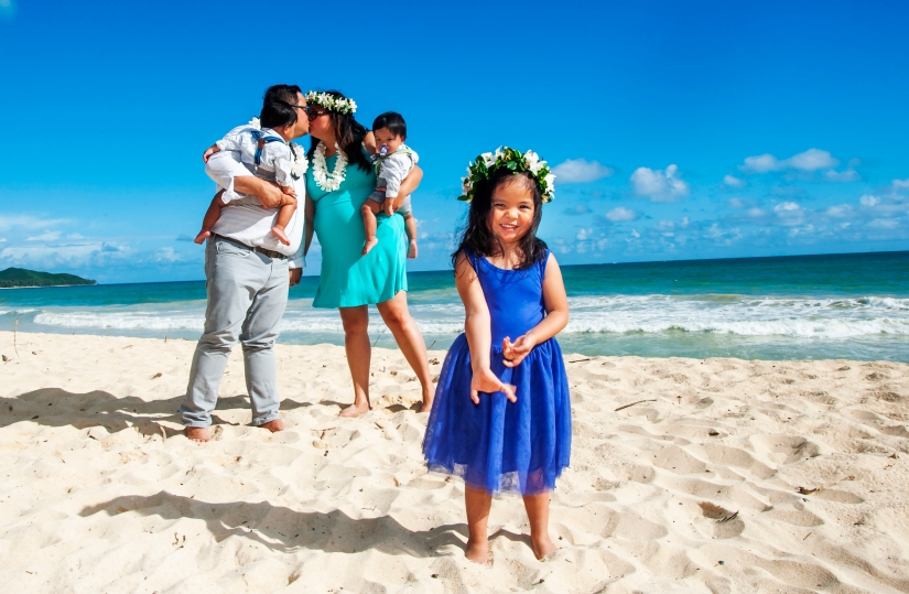 Family photography in Oahu, Hawaii